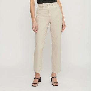 Dynamite gisele straight leg dyed pant in beige